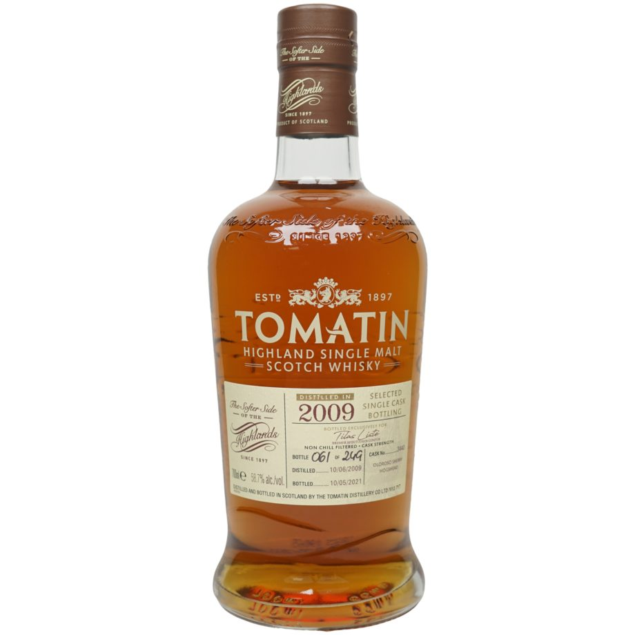 Tomatin 11 Jahre 2009/2021 – Selected Single Cask Bottling #3440